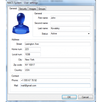 NACS system kontroli dostępu